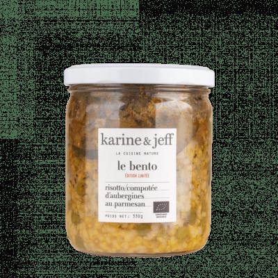 bento risotto aubergines parmesan bio et artisanal